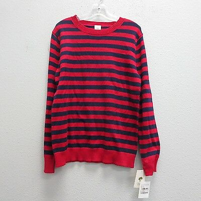TUCKER+TATE Boys Blue Red Stripe Knit Cotton Cashmere Fine Sweater NEW NWT 10/12