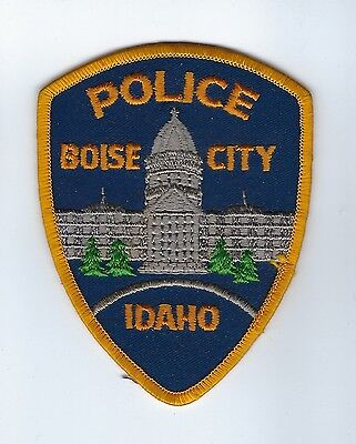 Boise City (Ada County) ID Idaho Police Dept. GOLD BORDER patch - NEW! *CAPITAL*