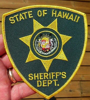 Vintage Obsolete State Of Hawaii Sheriff's Department Patch Police Patch