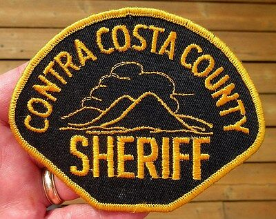 Vintage Obsolete Contra Costa County California Sheriff Patch Police Patch