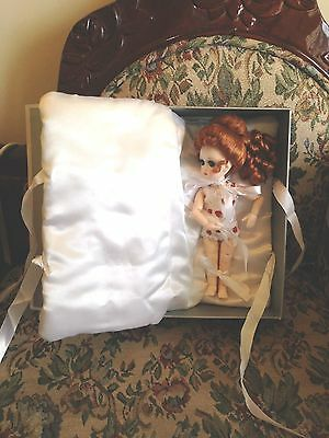 "NIB Ruby Red Galleria 8"" BJD StrawBerina Queen of Strawberries doll w/wig & case"