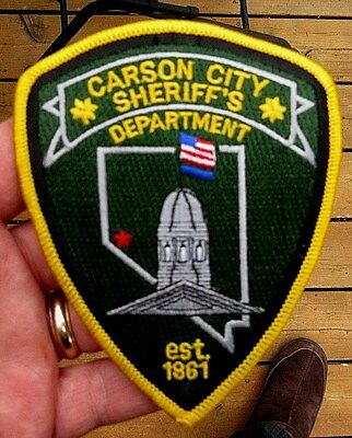 Vintage Obsolete Carson City, Nevada Sheriff's Department Patch Police Patch