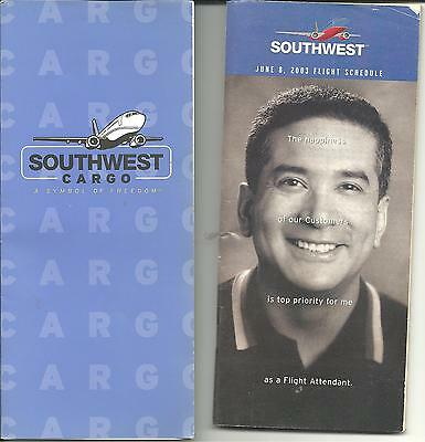 Southwest Airline 2003 Timetable  &  Cargo Information