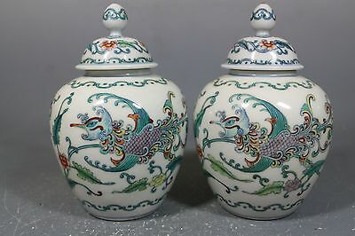 beautiful chinese dou-cai porcelain pots