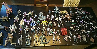 Large Lot of Mcfarland Marvel DC Action Figures Spawn Monsters LOTS