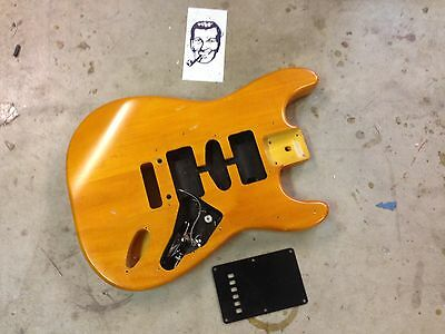 Squier Standard Stratocaster Electric Guitar Body Vintage Amber