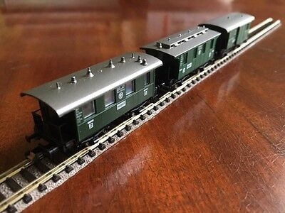 Fleischmann N Guage Piccolo Set Of Three 4-Wheel Coaches