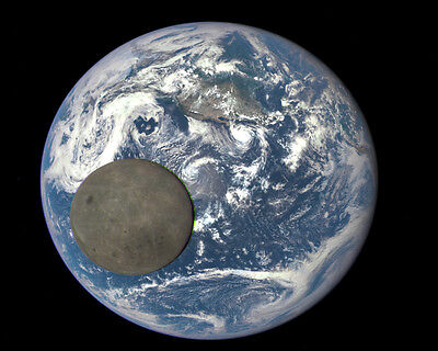 Dark Side Of The Moon & Earth Photo from NASA Deep Space Climate Observatory New