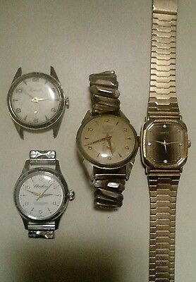 Lot Of 4 Vintage Watches All Work/Sold As Is