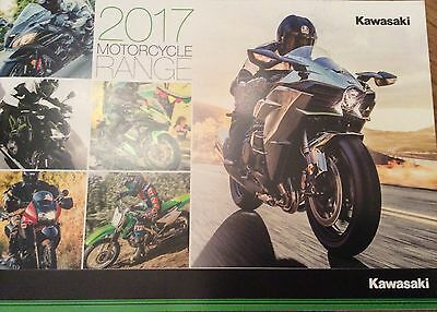 Kawasaki 2017 Motorcycle Range Brand New Booklet 24 Pages Features 30 Bikes.