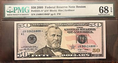 Fr 2131-A* Federal Reserve Note Boston $50 68 EPQ PMG * Star Note *