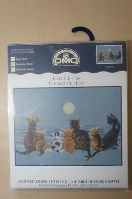 DMC counted cross stitch kit ' Cats Chorus ' ref K4998