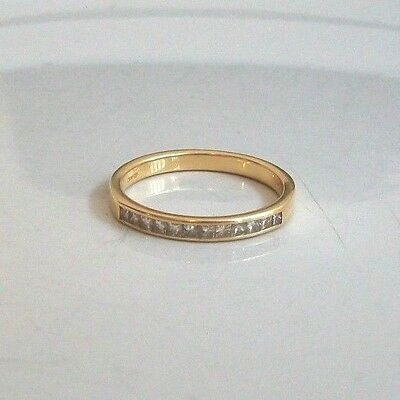 18Ct Gold And 34 Point Half Eternity Diamond Ring