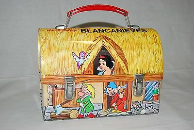 1970 Disney Snow White Metal Lunch Box DOME Lunchbox PAYVA EXTREMELY RARE