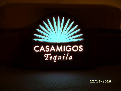 Casamigos Tequila - Lighted 3 Bottle Lighted Wood Bottle Glorifier Stand *NEW*
