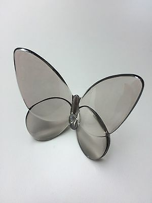 Grey Silver Nude Brown Platina Baccarat Papillon Lucky Butterfly Crystal Glass