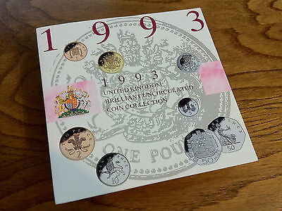 RARE 1993 UK Brilliant Uncirculated Annual Coin Collection, EEC 50p, 8 coins.