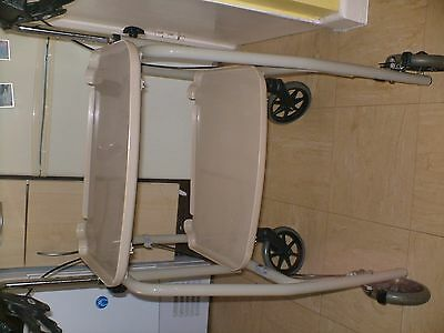 Days Mobility 4 Wheel Kitchen Trolly Walker With Hand Brakes