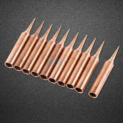 10Pcs Pure Copper Low Temperature Soldering Solder Tips Station Tool 900M-T-I BD
