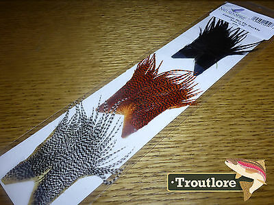Nature's Spirit Genetic Dry Fly Hackle 3-Pack - New Fly Tying Whiting Feathers