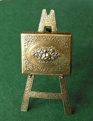 Antique W. Avery & Son, Redditch Brass Easel Needlecase.