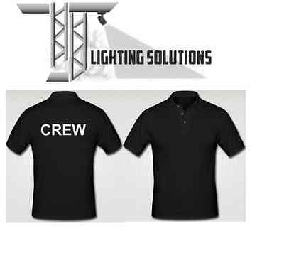 CREW Polo Shirts Stage Lighting Theatre Stage DJ