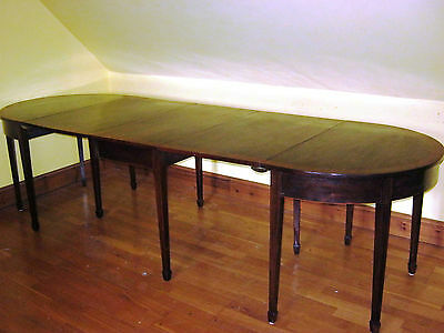 George Iii  Mahogany Cross Banded Dining Table To Seat 10