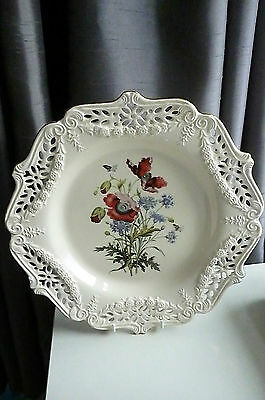 "Royal Creamware Collectors Limited Edition Wall Plate ""poppies"" Design - Mint!!!"