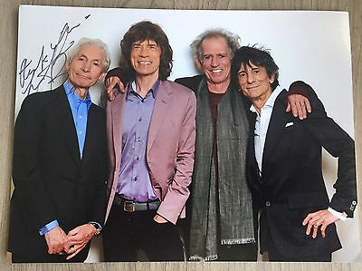 Charlie Watts Hand Signed Autograph Photo - The Rolling Stones - Music - COA