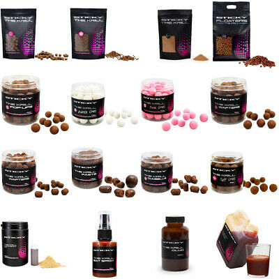 Sticky Baits The Krill Boilies, Pellets, Pop Ups, Wafters, Glug The Full Range