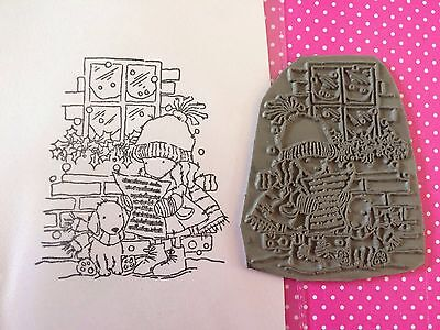 Lotv Lily Of The Valley Rubber Stamp Christmas Carol Singing