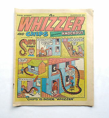 Whizzer and Chips incorporating Knockout 23rd February 1974 – IPC Magazines Ltd