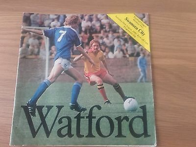 Watford V Swansea City 16Th August 1980 Division Two Swans Promoted