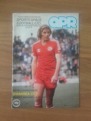 Queens Park Rangers V Swansea 23Rd August 1980 Division Two Swans Promoted
