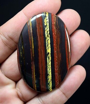 Lovely Iron Tigers Eye  ! 128.55 Cts. 100 % Natural Oval Cab For Silver Jewelry