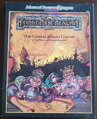 The Great Khan Game AD&D 2nd Ed Forgotten Realms Game Folio box set TSR