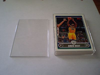 Lot Of 100 - 2 Piece Snap Plastic Box Each Holds 25 Cards