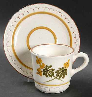 Stangl GOLDEN BLOSSOM (BROWN TRIM-YELLOW) Cup & Saucer 696909