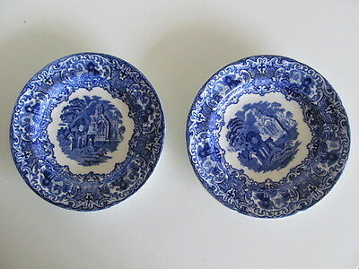 George Jones Abbey Pattern - Pair Of Plates