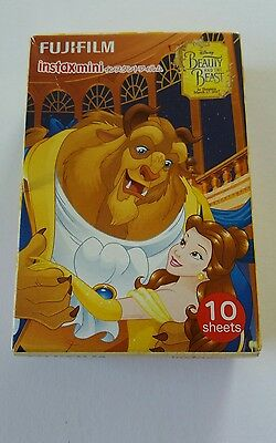 Genuine Fujifilm Disney Beauty and the Beast Fuji Instax Mini Film 10 Shots Pack