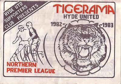 HYDE UTD v CHORLEY 1982/83 NORTHERN PREMIER LEAGUE