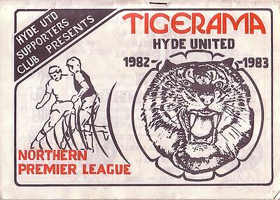HYDE UTD v WORKSOP TOWN 1982/83 NORTHERN PREMIER LEAGUE