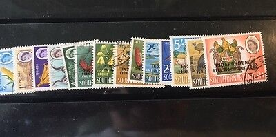 Rhodesia -  1965 Independence Overprints set to £1 Fine Used (2)