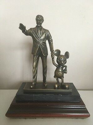 Disney - Partners In Excellence - Very Rare Bronze Statue - Walt & Mickey Mouse