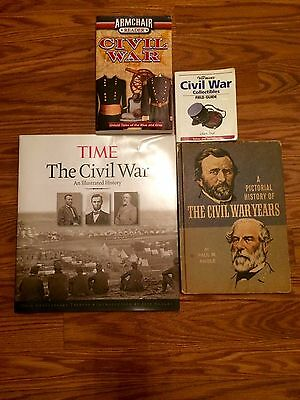 Lot of 4 Civil War books Time A Pictorial History Collectibles Field Guide