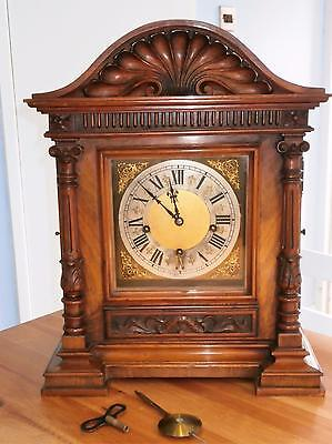 Figured Walnut Westminster Boardroom Bracket Clock