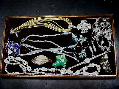 Tray Lot Of  Costume Jewelry-All Good And Wearable