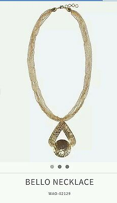 JEANSWEST Necklace BRAND NEW Bello Gold chain ball long triangle