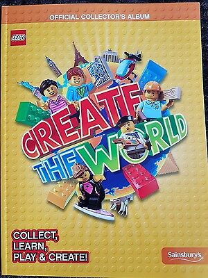 Lego Create  The World Trading Cards Book. Official Collector's Album- Sainsbury