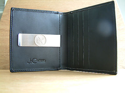 Men's Birthday Gift Quality Soft Leather Credit Card Holder Wallet Money Clip
